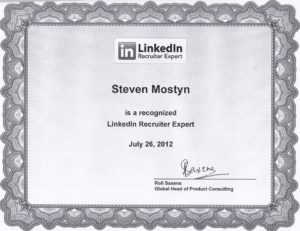 Steevn Mostyn is a recognized Linkedin Recruiter Expert
